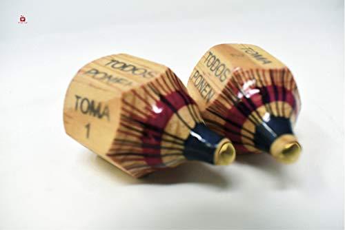 New | Alondra's Imports (TM) Uniquely Designed, Classic Wood Spinning Top Game (Pirinola Toma Todo -...