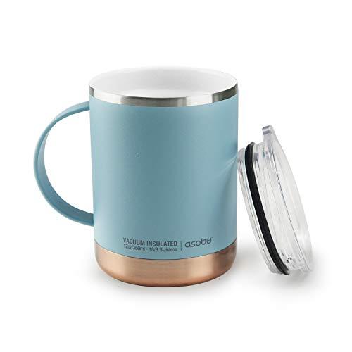 Asobu Ultimate Stainless Steel Ceramic Inner Coating Insulated Mug 12 Ounce (Baby Blue)