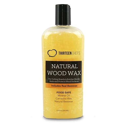 Cutting Board Wax and Conditioner, Protects Wood Countertops and Butcher Blocks - Made in USA with...