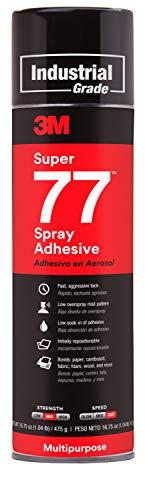 3M Super 77 Multipurpose Permanent Spray Adhesive Glue, Paper, Cardboard, Fabric, Plastic, Metal,...