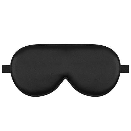 Alaska Bear Natural Silk Sleep Mask, Blindfold, Super Smooth Eye Mask Unisex (Black)
