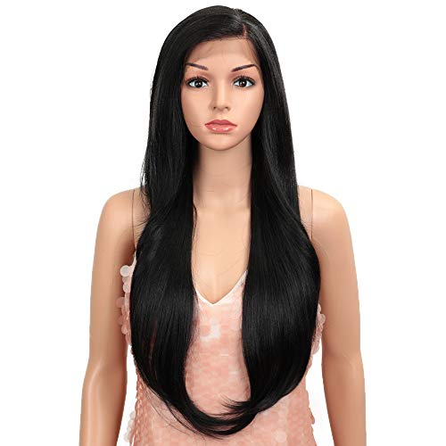Style Icon Easy-360 Lace Wigs 28' Free Part Lace Frontal Wigs Long Straight Wig Black Synthetic...