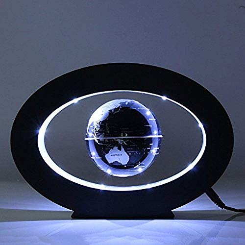 FUZADEL Floating Globes Levitating Globes Levitation Floating Globe Magnetic World Map LED Lamp