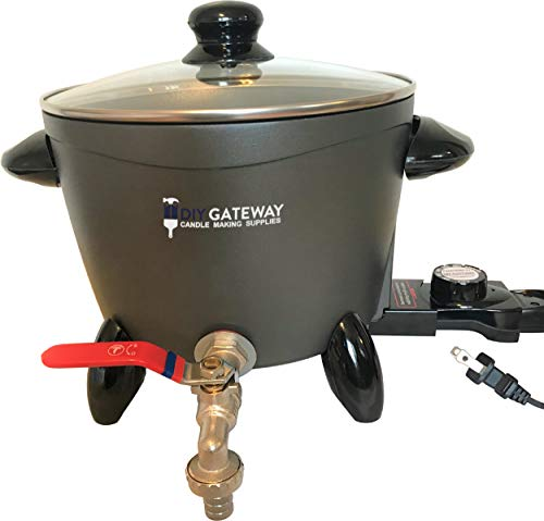 Wax Melter for Candle Making, Large Electric 10 LB Wax Melting Pot Machine with Quick-Pour Spout &...