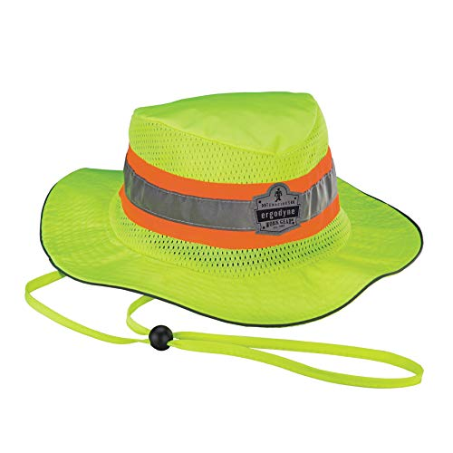 Ergodyne Chill Its 8935CT Cooling Ranger Sun Hat, PVA Cooling Relief, High Visibility, Reflective