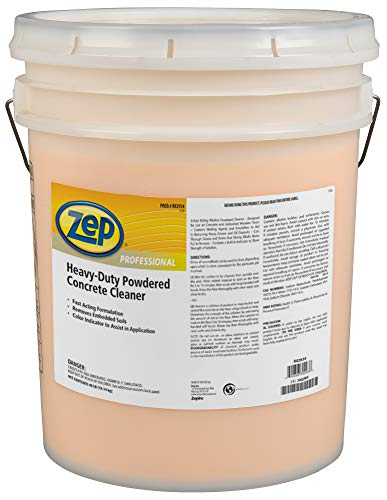 Zep Professional Heavy-Duty Powdered Concrete Cleaner, 40Lb. Bucket, Biodegradable, Dissolves...
