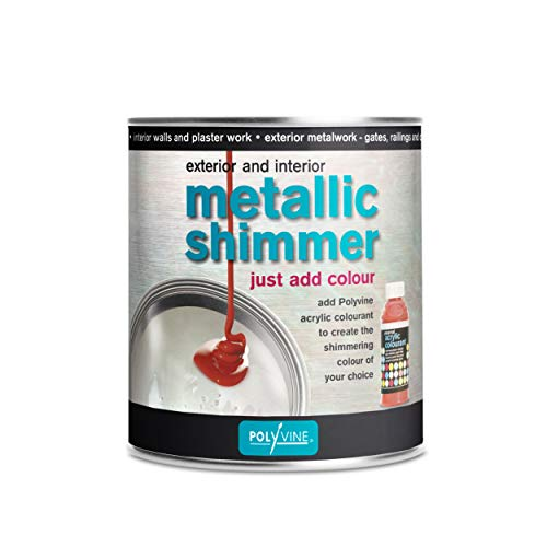 Metallic Shimmer Pearlescent Paint for Interior and Exterior Quart