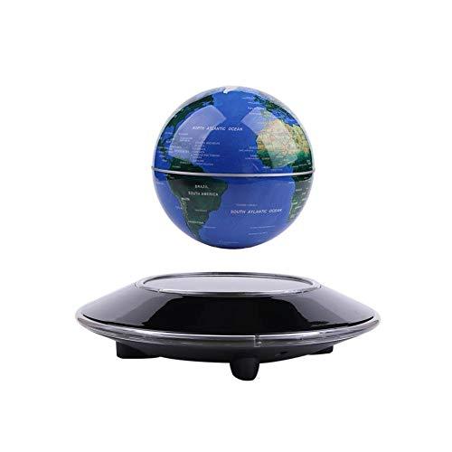 Vhouse'' Magnetic Levitation Floating Globe Anti Gravity Rotating World Map with LED Light for...