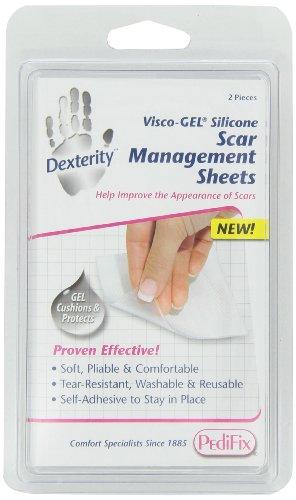 PediFix Dexterity Visco-gel Silicone Scar Management Sheets, 2-Count