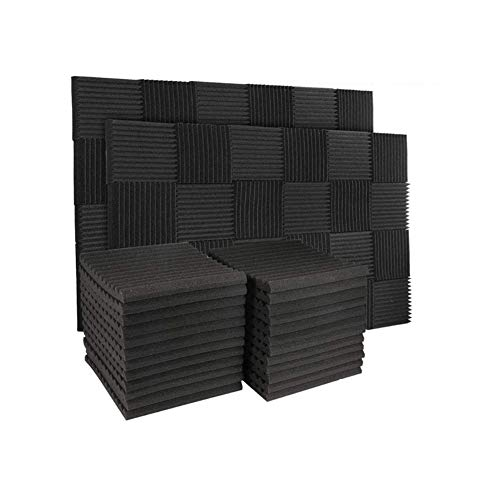 50 Pack Acoustic Panels Soundproof Studio Foam for Walls Sound Absorbing Panels Sound Insulation...