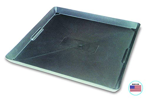 WirthCo 40092 Funnel King Drip Tray - Black Plastic 22 x 22 x 1.5 Inches - Perfect for Catching...