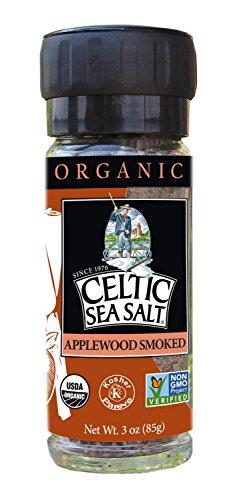 Gourmet Celtic Sea Salt Organic Applewood Smoked Seasoning Salt – Versatile Smoked Seasoning with...