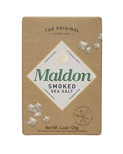 Maldon Salt, Smoked Sea Salt Flakes, 4.4 oz (125 g), Kosher, Natural, Gently Smoked Over Oak,...