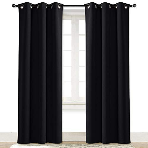 NICETOWN Soundproof Thermal Insulated Blackout Curtain Thermal Insulated Solid Grommet Blackout...