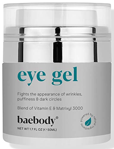 Baebody Eye Gel for Under and Around Eyes to Smooth Fine Lines, Brighten Dark Circles and De-Puff...