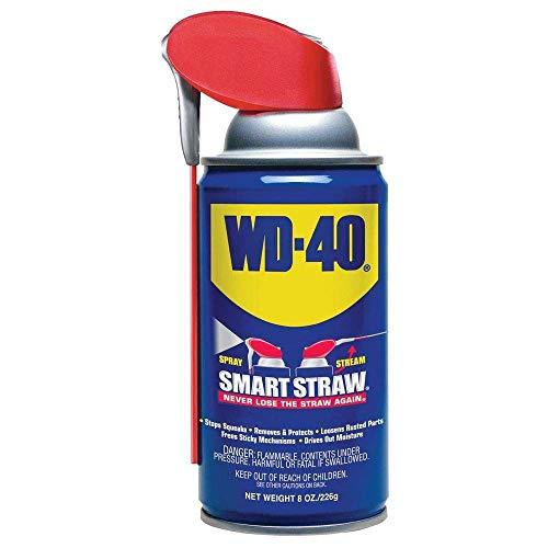 WD-40 Multi-Use Product with SMART STRAWSPRAYS 2 WAYS, 8 OZ (490026), Blue