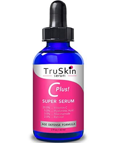 TruSkin Vitamin C-Plus Super Serum, Anti Aging Anti-Wrinkle Facial Serum with Niacinamide, Retinol,...