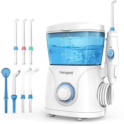 Homgeek Upgrade Water Flosser,Oral Irrigator,Dental Water Flosser,Anti Leakage Water Flosser for...