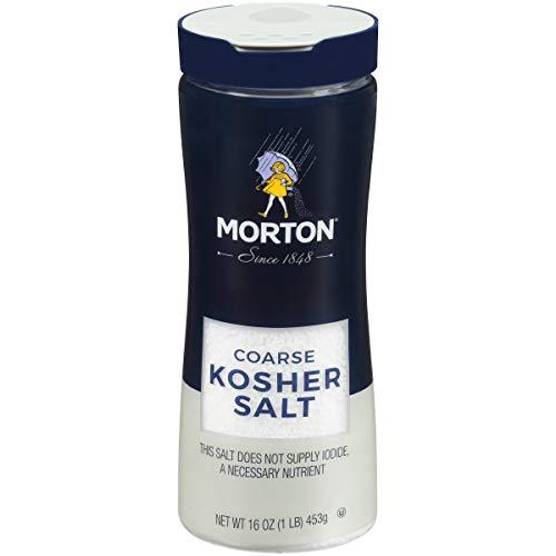 Morton Kosher Salt, Coarse, 16 Ounce