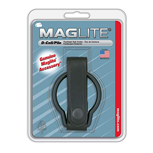 Maglite Black Plain Leather Belt Holder for D-Cell Flashlight