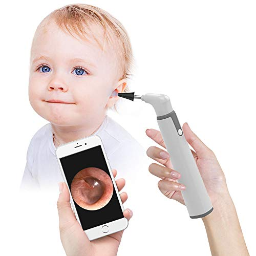 Wireless Otoscope, 3.9mm Ultra-Thin WiFi Ear Scope Camera with Earwax Removal Tool and 6 LED Lights,...