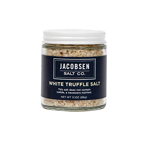 Jacobsen Salt Co. Specialty Sea Salt for Fancy Gourmet Cooking, Infused Sea Salt, White Truffle...
