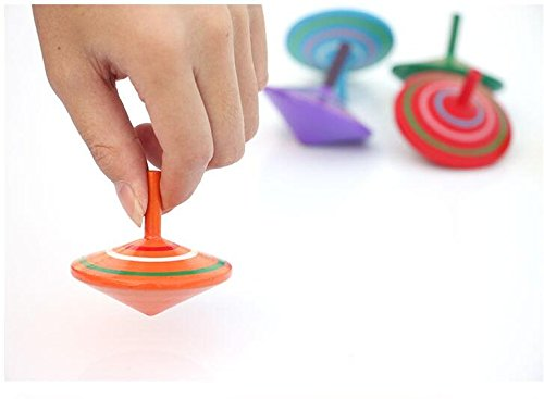 GoodPlay Gyroscope, 3 Pcs/Set Handmade Painted Wood Spinning Tops, Wooden Toys Educational Toys...