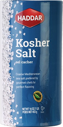 Haddar Kosher Salt 1 Pack (16oz) Made in Italy
