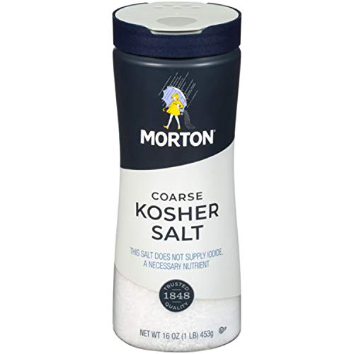 Morton Kosher Salt, Coarse, 16 Ounce