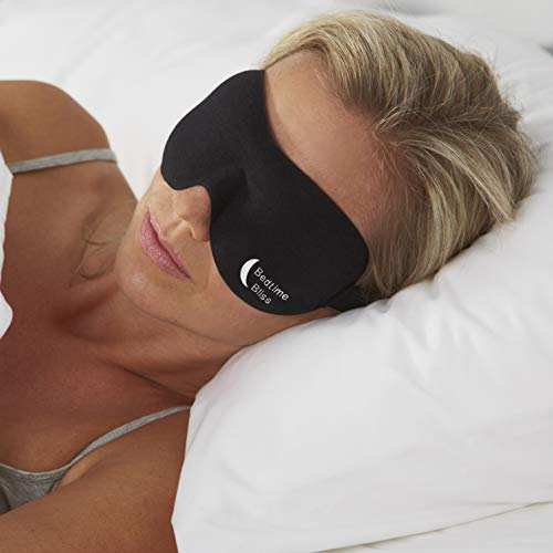 Bedtime Bliss Luxury Sleeping Eye Mask for Men & Women. Our Sleep Masks are Adjustable, Contoured &...