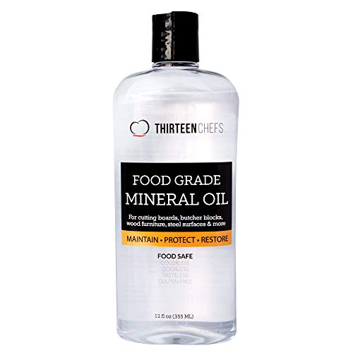 Food Grade Mineral Oil for Cutting Boards, Countertops and Butcher Blocks - Food Safe and Made in...