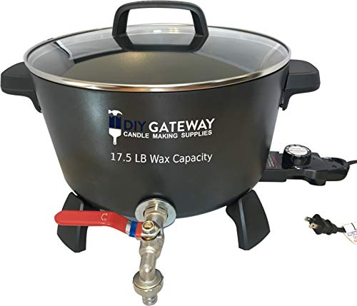 Wax Melter for Candle Making: Extra Large 17 LB+ Wax Capacity Electric Wax Melting Pot Machine with...