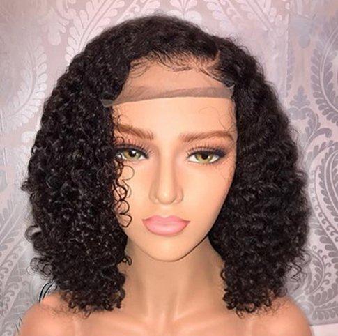 Jessica Hair Full Lace Wigs Human Hair Wigs For Black Women Curly Brazilian Virgin Hair Glueless...
