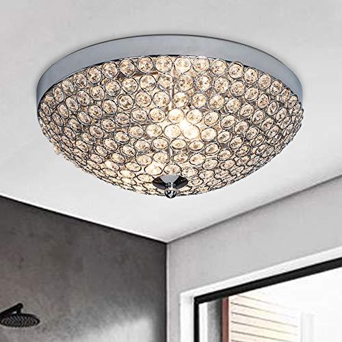 SOTTAE Elegant 2 Lights Crystal Cental Shade Chrome Finish Bedroom Living Room Hallway Kids Room...