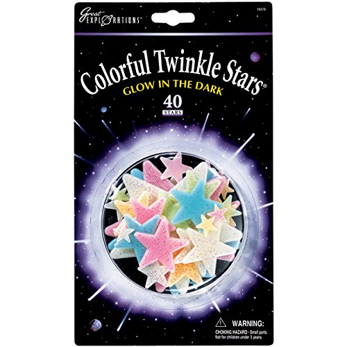 University Games Great Explorations Colorful Twinkle Stars, 40-Pack