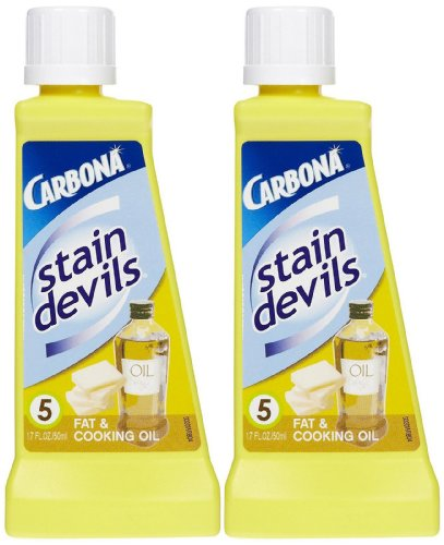 Carbona Stain Devils #5 Fat & Cooking Oil - 1.7 Fl Oz (Pack of 2)