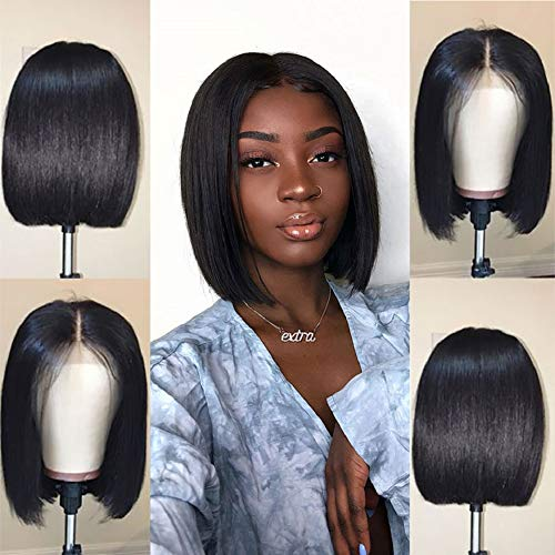 Short Straight Bob Wigs Human Hair 13x4 Lace Front Wigs for Black Women Jaja Hair 130% Density Pre...