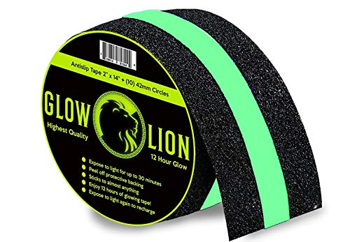 Non-Slip Glow in The Dark Tape | Anti Slip Adhesive Grip for Stairs and Gaffers | 2 Inches Wide by...