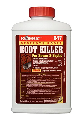 Roebic K-77 Root Killer for Sewer and Septic Systems, Clears Pipes and Stops New Growth, Safe for...