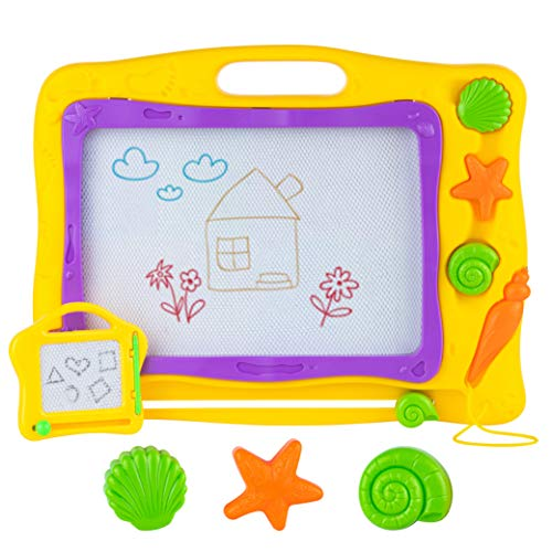 Toyvelt 2021 Magna Doodle Magnetic Drawing Board Pad For Kids And Toddlers - 16 Inch Large Writing...