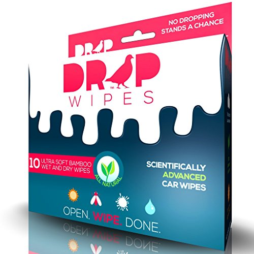 Bird Poop Remover - Drop Wipes - Exterior Car Wipes/Auto Spot Cleaner - Scientifically Advanced,...