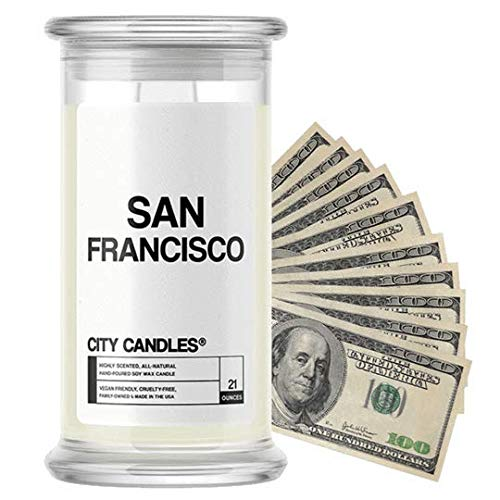 San Francisco City Cash Money Candles   $2-$2500 Inside   Guaranteed Rare $2 Bill   Choose from 30+...