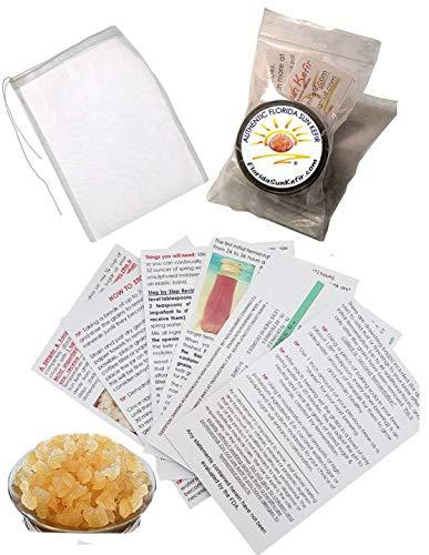 1/4 Cup Live Florida Sun Kefir Water Kefir Grains (Tibicos) Natural Probiotics