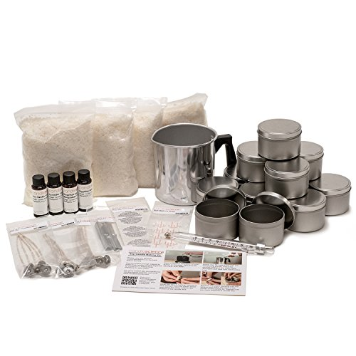 CandleScience Soy Candle Making Starter Kit (Up to 12 Candles) – DIY Kit Contains Soy Wax Pot...