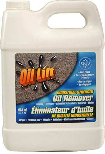 Oillift Industrial Strength Concentrated Non Toxic Oil Remover Removes Oil from Cement, Asphalt and...
