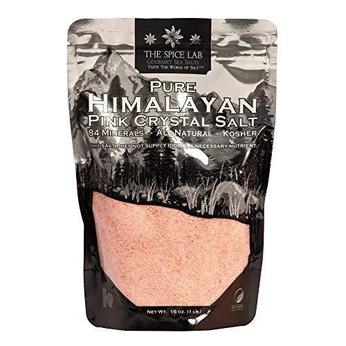 The Spice Lab Himalayan Salt - Fine 1 Lb Bag - Pink Himalayan Salt is Nutrient and Mineral Dense for...