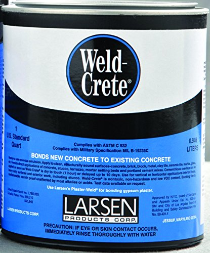 Larsen Products WCQ06 'Weld Crete' Concrete Bonding Agent, Quart