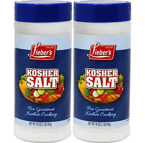 Lieber's Kosher Salt, Kosher For Passover, 16 Ounce (2-Pack)