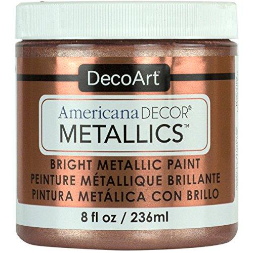DecoArt Ameri Deco MTLC Rose Gold Americana Decor Metallics 8oz, 1