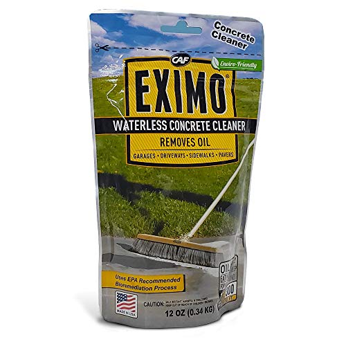 EXIMO Waterless Concrete Cleaner 0.75 lbs for Driveway, Garage, Basement, and Walkway Surfaces,...